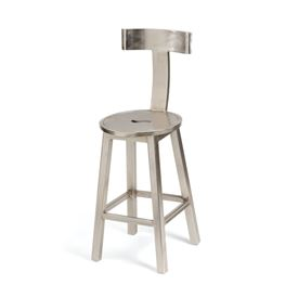 "26"" Seat Height Steel Finish Barstool"