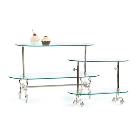 Small Two Tier Adjustable Pastry Stand