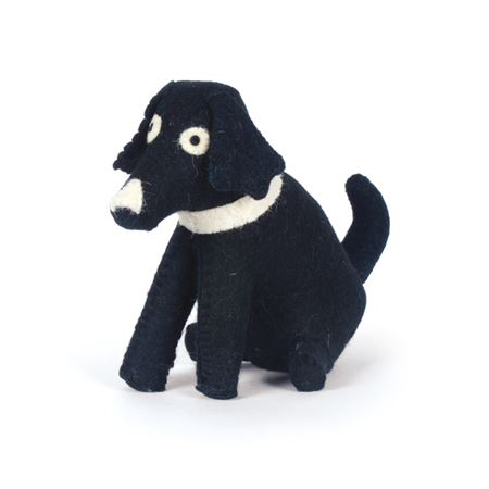 Black Dog Felt Doorstop