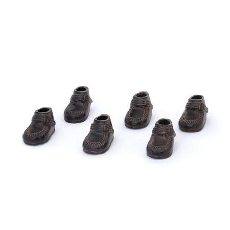 Set of Six Kids Shoes - Bronze