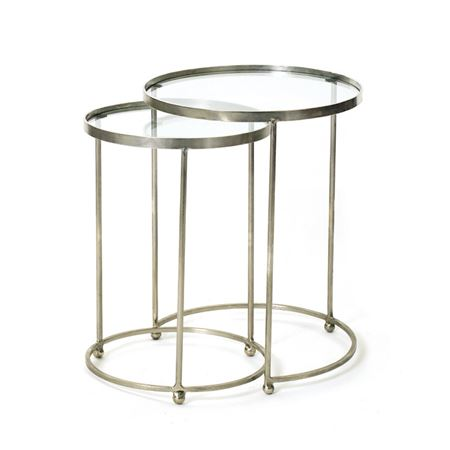 Set of Two Circle Nesting Tables