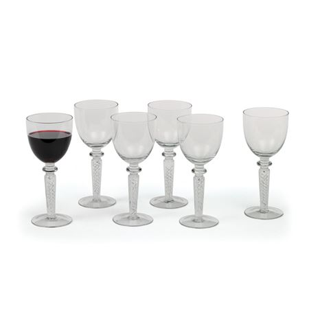 "Set of Six Coil ""Red Wine"" Goblets"