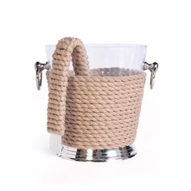 Coastal Ice Bucket And Tongs