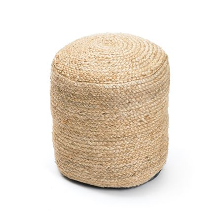 Round Braided Hemp Pouf