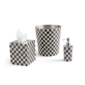 Checkered Bath Set