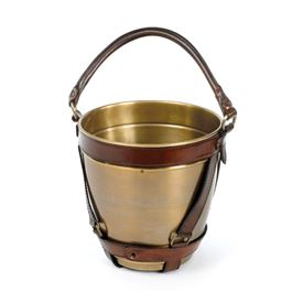 Leather Handle Champagne Bucket
