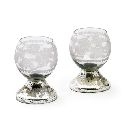 Set of Two Small Crystal Ball