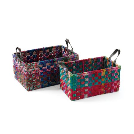 Rectangle Woven Fabric Baskets