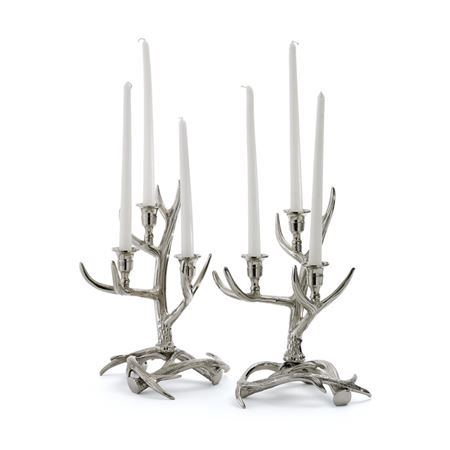 Pair Of Tangled Antler Candelabras