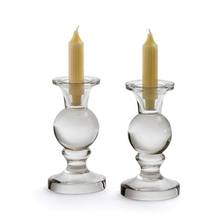 Pair Of Spherical Candleholders