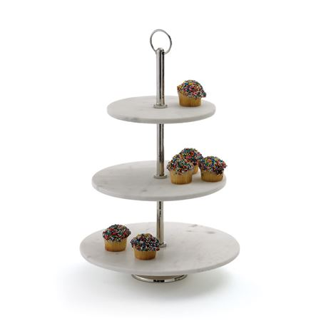 Round Marble Fruit Stand