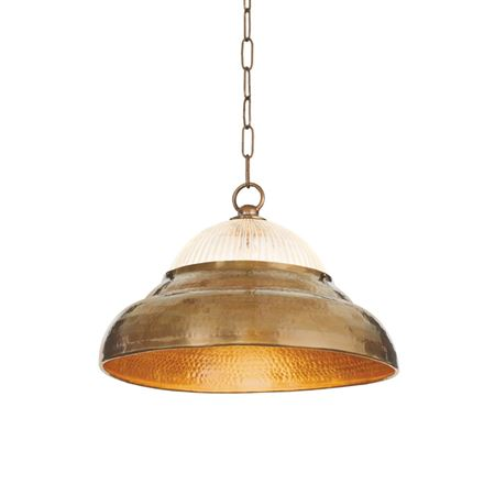 Brass & Glass Hanging Light