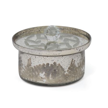 Andrew Antique Silver Medium Bowl with Lid