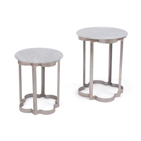 Set of Two Clover Iron Tables