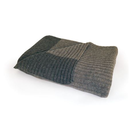 Ribbed Sweater Throw