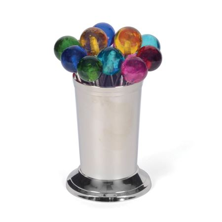 Set Of Twelve Multicolor Party Picks
