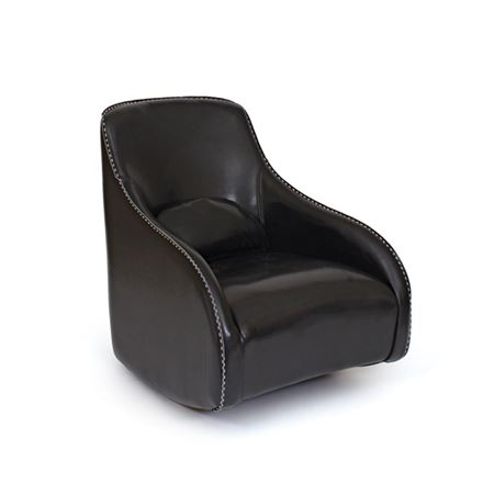 Black Contemporary Style Leather Chair