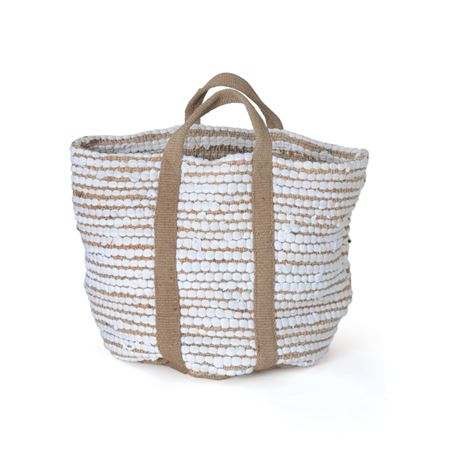White Hemp & Cotton Basket