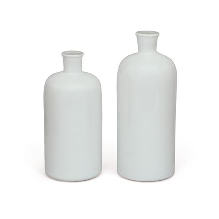 Set of Two Bianco Vases
