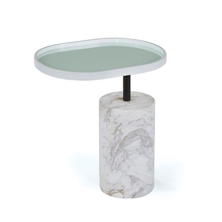 White Scarlett Side Table
