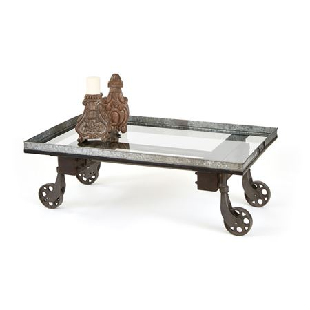 Pictured here is the Jamestown Coffee Table at Timeless Wrought Iron