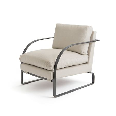 Pictured here is the Elyse Lounge Chair with Timeless Wrought Iron