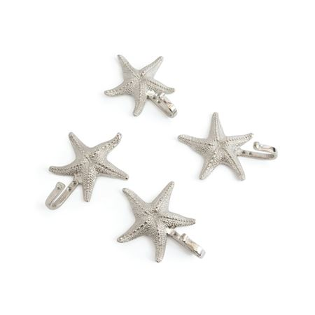 Set of Four Starfish Wall Hooks