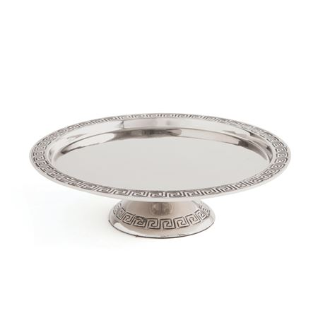 Anafi Greek Key Cake Stand