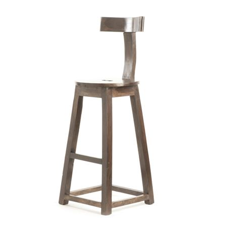"26"" Rustic Wooden Barstool"