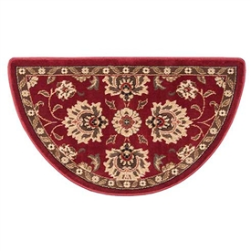 Pictured is the 25 inch x 42 inch Regal Wine Fire Resistant Certified Hearth Rug manufactured in America by Goods of the Woods