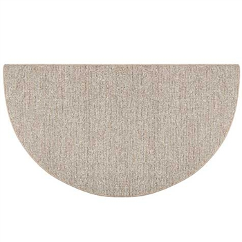 Pictured is the 27 inch x 48 inch Sisal Weave Olefin Hearth Rug in Beige manufactured in America by Goods of the Woods