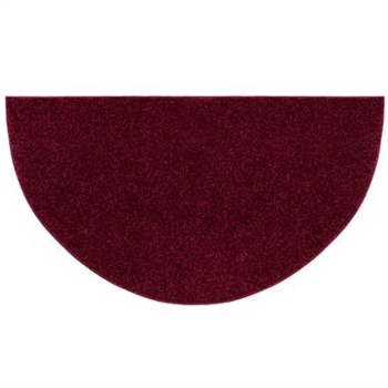 Pictured is the 27 inch x 48 inch Crimson Flame Polyester Fireplace Rug manufactured in America by Goods of the Woods