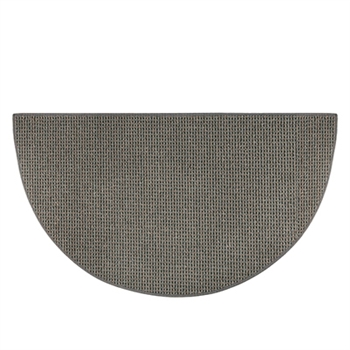 Pictured is the 27 inch x 48 inch Small Blue-Grey Cozy Hearth Rug manufactured in America by Goods of the Woods.