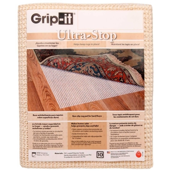 Pictured is the 4' x 2' Grip It Small Non Skid Pads for Hearth Rugs 4' x 2' manufactured in America by Goods of the Woods.