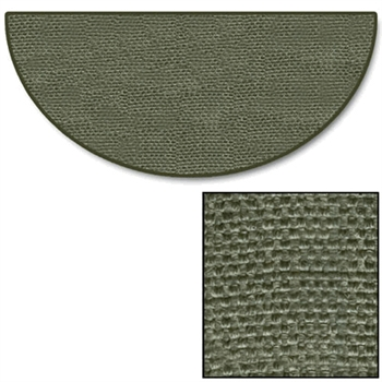 Pictured is the 32 inch x 60 inch Skid and Fire Resistant Sage Green Rug manufactured in America by Goods of the Woods.