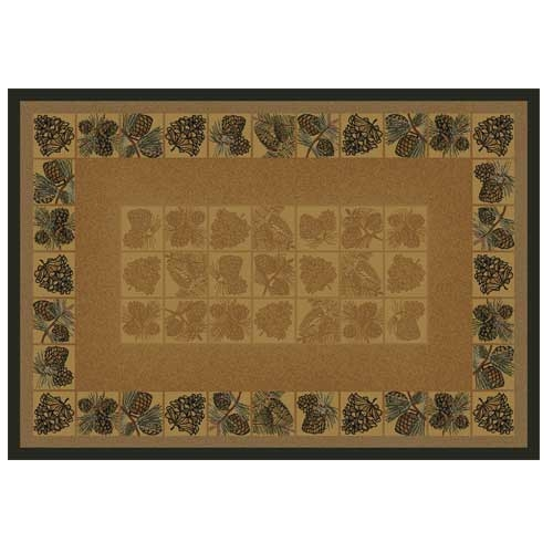 Pine Cones Ii Rectangular Hearth Rug Manufactured In Larger Photo