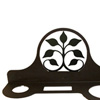 Wrought Iron Leaf Fan Hair Dryer Rack