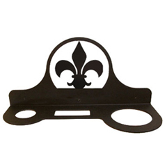 Wrought Iron Fleur-de-lis Hair Dryer Rack