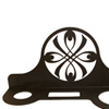 Wrought Iron Ribbon Hair Dryer Rack