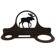 Wrought Iron Moose Hair Dryer Rack