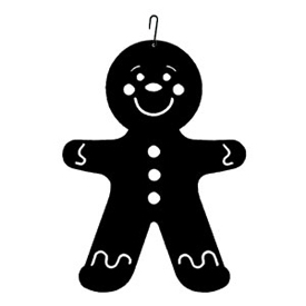Wrought Iron Gingerbread Boy Silhouette