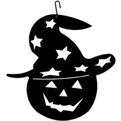 Wrought Iron Pumpkin-Hat Silhouette