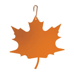 Wrought Iron Maple Leaf Silhouette-ORANGE