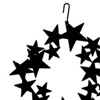 Wrought Iron Star Wreath Silhouette