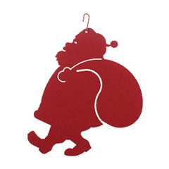 Wrought Iron Santa Silhouette