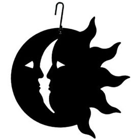 Wrought Iron Sun & Moon Silhouette
