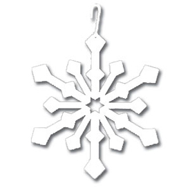 Wrought Iron Snowflake Silhouette