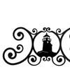 Wrought Iron Lighthouse Over Door Plaque