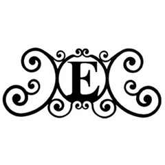 Wrought Iron House Plaque Let E