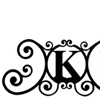 Wrought Iron House Plaque Let K